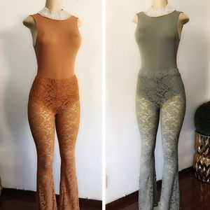 Pants - Rusty & Green Lace Jumpsuits